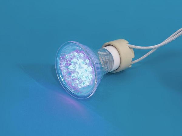 OMNILUX GU-10 230V 18 LED blau
