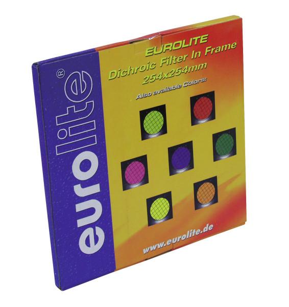 EUROLITE Dichro-Filter gelb, Rahmen schwarz PAR-64