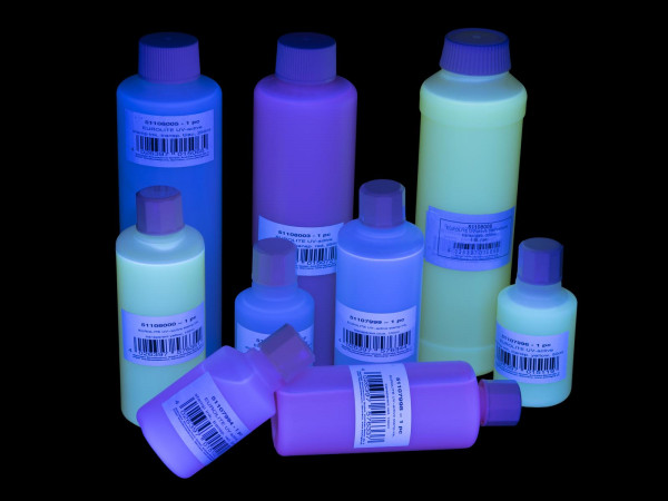 EUROLITE UV-aktive Stempelfarbe, transparent blau, 250ml