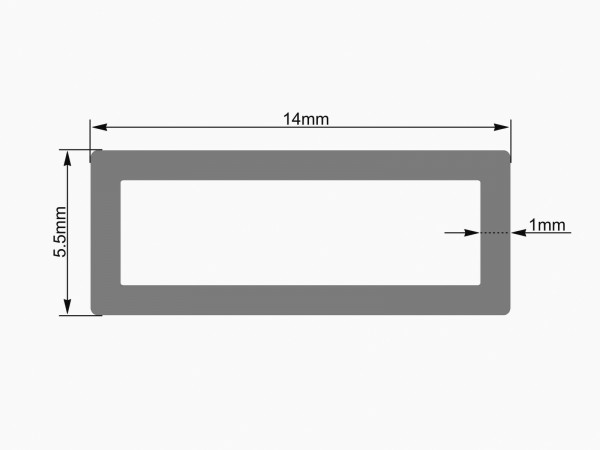 EUROLITE Leer-Rohr 14x5,5mm clear LED Strip 2m