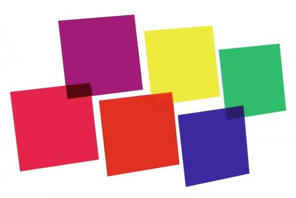 EUROLITE Farbfolienset 24x24cm PAR-64 sechs Farben