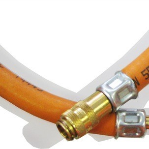 Propane gas hose 10m incl.quick connector male/female
