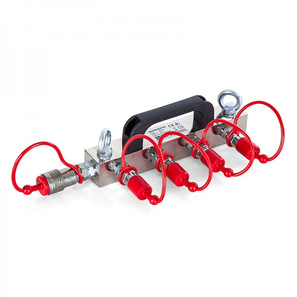 Co2 High Pressure Distribution Block (4x 3/8 hose in, 1x 3/8 out)