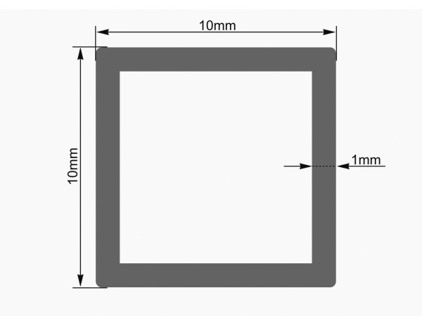 EUROLITE Leer-Rohr 10x10mm rot UV-aktiv 4m