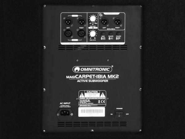 OMNITRONIC MagiCarpet-181A MK2 Aktivsubwoofer