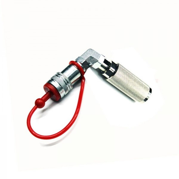 CO2 Bottle to hose connector 90 degrees