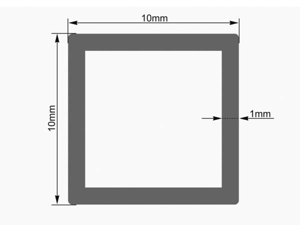 EUROLITE Leer-Rohr 10x10mm rot UV-aktiv 2m