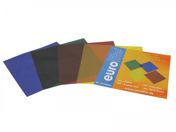 EUROLITE Farbfolienset 24x24cm PAR-64 vier Farben