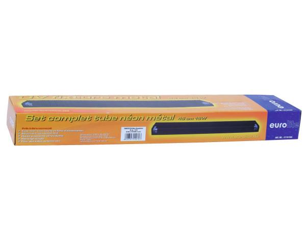 EUROLITE UV-Röhre Komplettset 45cm 15W metall sw