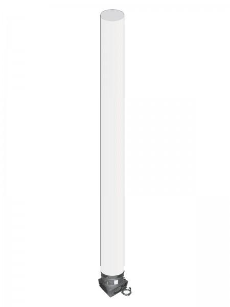 EUROLITE Stoffröhre 5m weiß