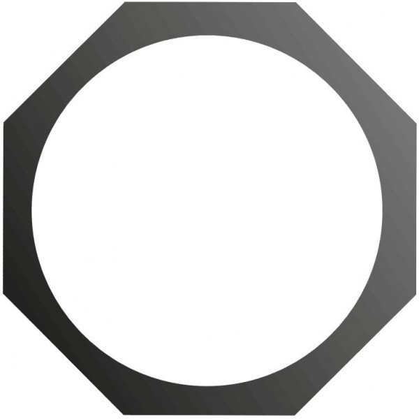 EUROLITE Filterrahmen PAR-46 Spot 8-eckig sw