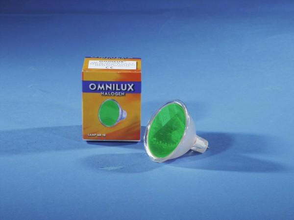 OMNILUX MR-16 12V/50W GX-5,3 SP 12° grün