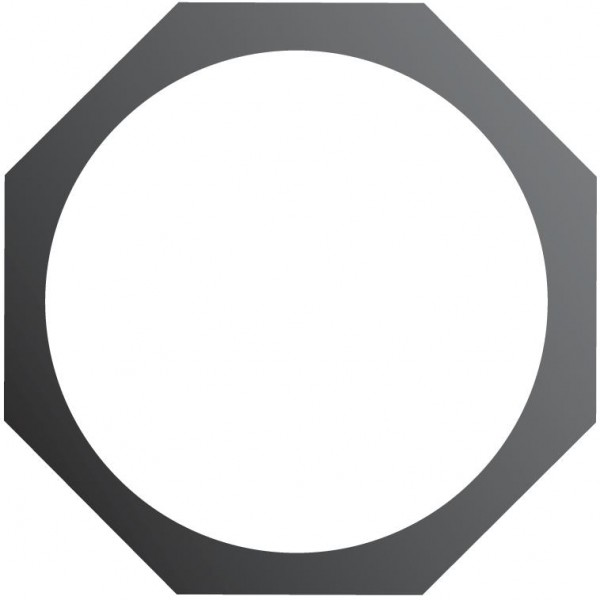 EUROLITE Filterrahmen PAR-64 Spot 8-eckig sw